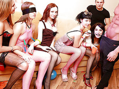 We had the entire weekend ahead, a huge apartment fully at our disposal, some kinky sex toys and a funny dress... Hmm, it sounds like a ideal combination be advisable for a wild sex party! Add lots of champagne and the luscious university beauties, and u'll...