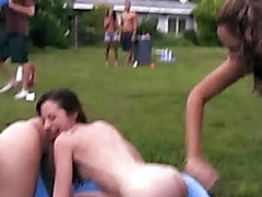 Wild orgy party relative to smoking hot amateur teens and men