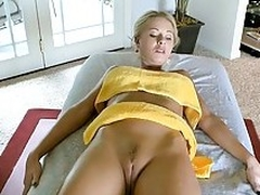 Babe sucks big cock in on ice of a fuck