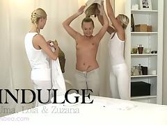 Oversexed hot lesbian massage with Uma, Zuzana and Lola
