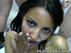 Leila is feeling like a transient slut this day so that babe came to the putalocura offices getting consenting to get overspread in thick layers of cum! Watch her being overspread in this bukkake cock juice fest!
