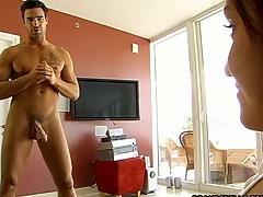 Wicked sweethearts are seducing stud into having wild sex