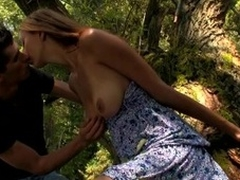 Wild fuck outdoors on the libretto with a wicked and immodest blond