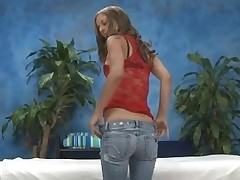 Gorgeous 18 year old gets drilled hard by her massage therapist