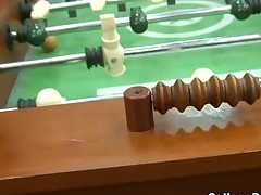 Foosball gets naughty with college nubiles fucking for a win