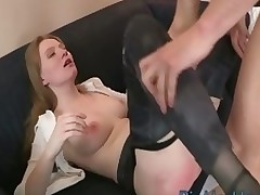 One very ardent beauty gets her holes fingered with the addition of drilled