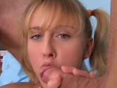 Pretty girl acquires fucked doggystyle check b determine giving a head
